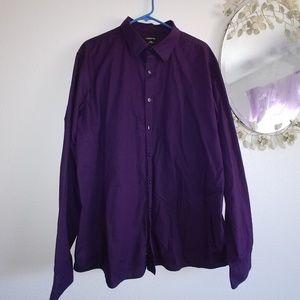 Claiborne Mena deep plum dress shirt